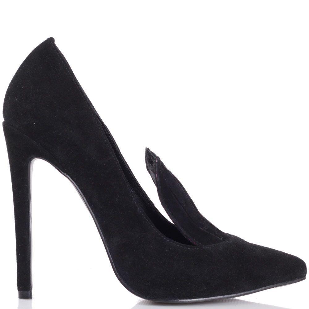 Туфли Kandee черного цвета замшевые с ушками