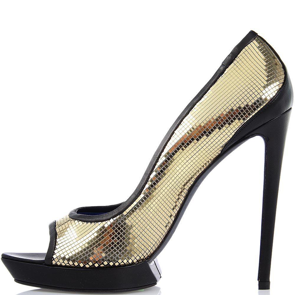 Туфли Raphael Young на высокой шпильке золотого цвета