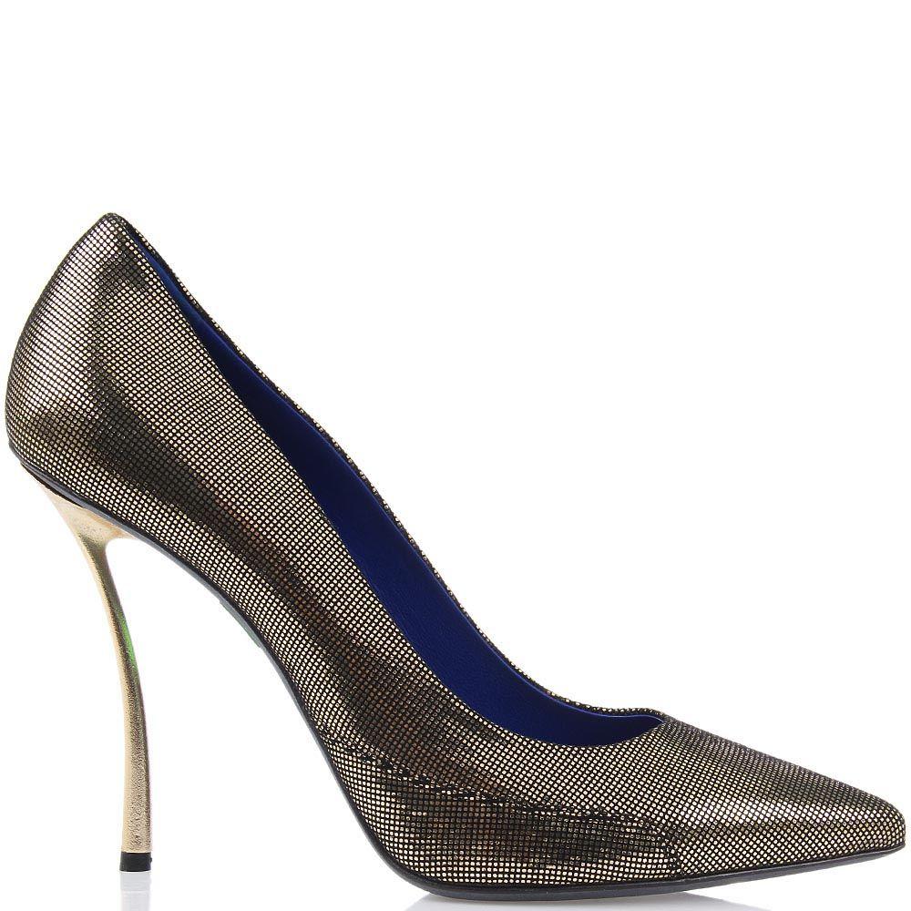 Женские туфли Raphael Young из натуральной кожи с лазерной обработкой на изогнутом каблуке-шпильке