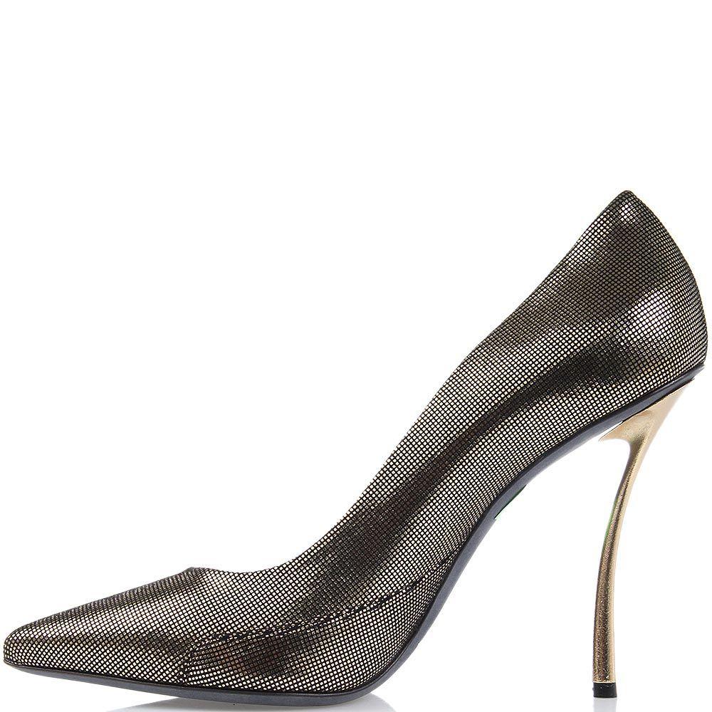 Женские туфли Raphael Young из кожи с лазерной обработкой на изогнутом каблуке-шпильке
