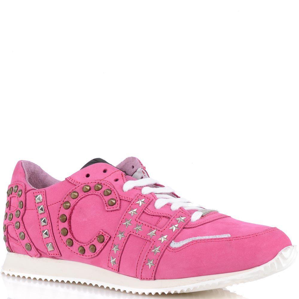 Женские кроссовки Richmond из натуральной замши розового цвета
