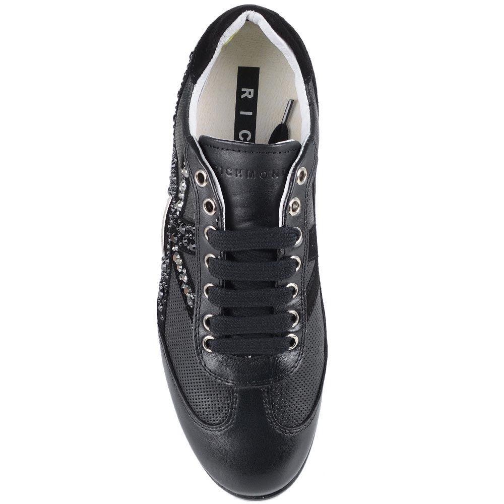 Женские кроссовки Richmond из натуральной кожи с отделкой стразами