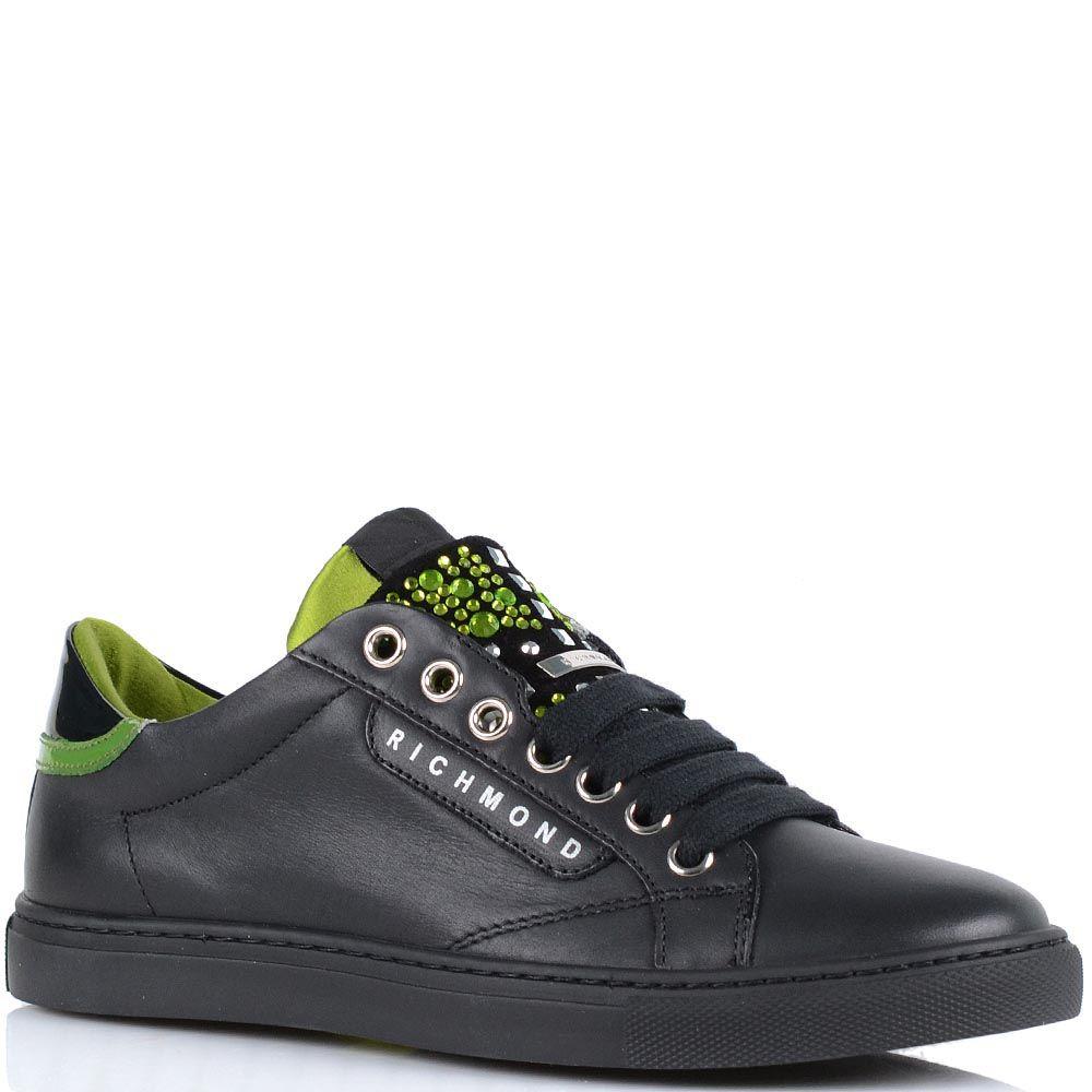 Кроссовки Richmond черно-салатового цвета