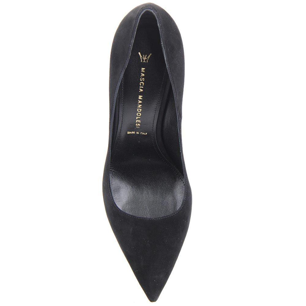 Туфли-лодочки Mascia Mandolesi черного цвета замшевые на шпильке