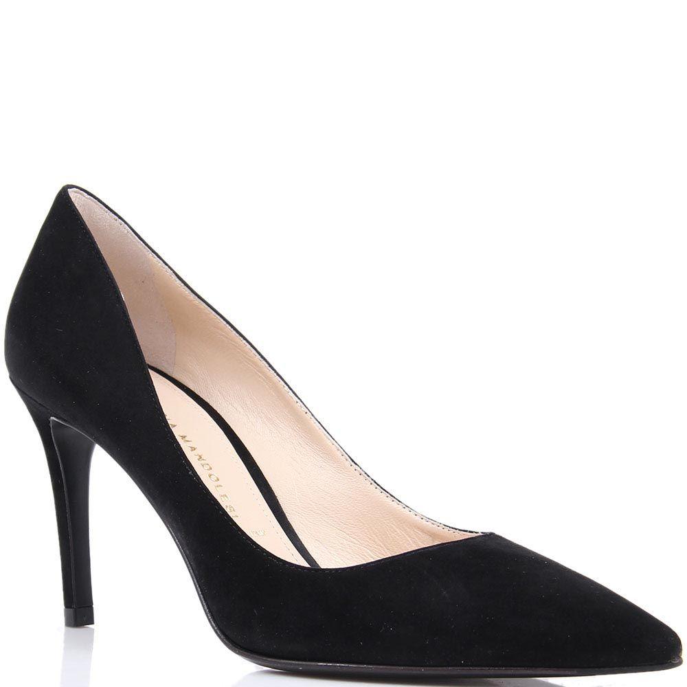 Туфли-лодочки Mascia Mandolesi черного цвета замшевые