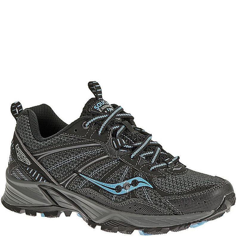 Беговые кроссовки Saucony Excursion TR8 черные с голубым