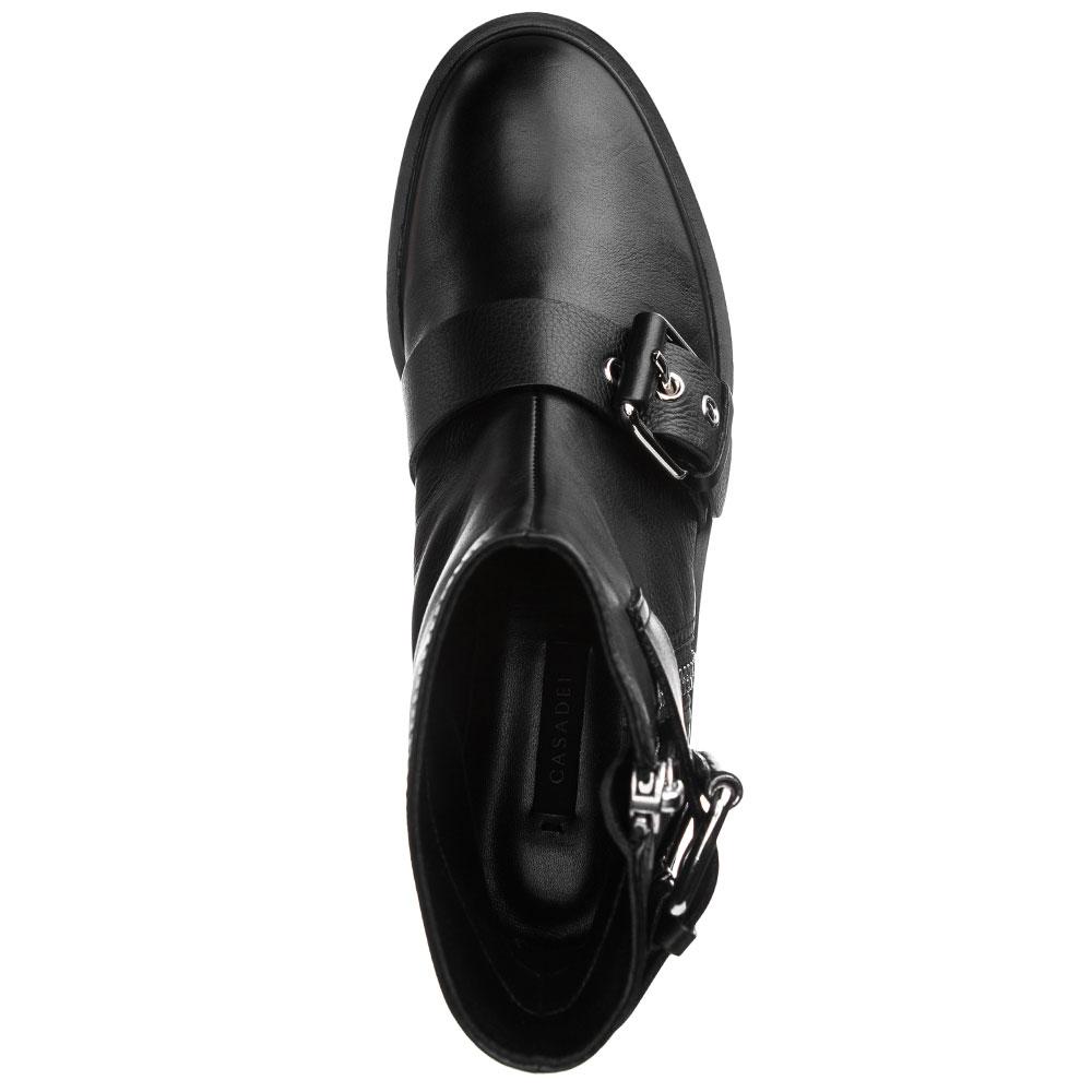 Ботинки на молнии Casadei с декором-пряжками