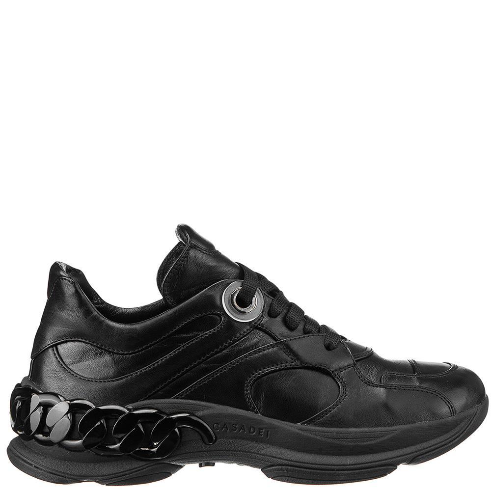 Женские кроссовки Casadei с декором черного цвета