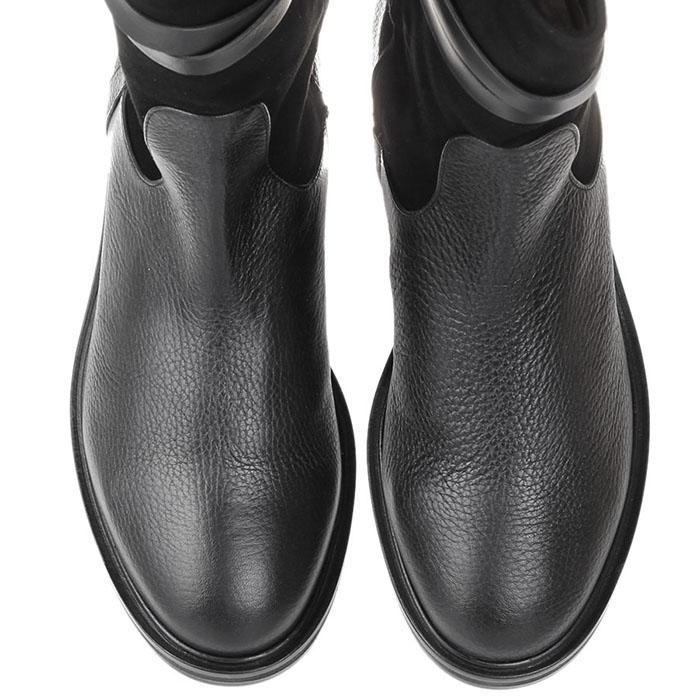 Ботинки из кожи с замшевым верхом The Seller черного цвета