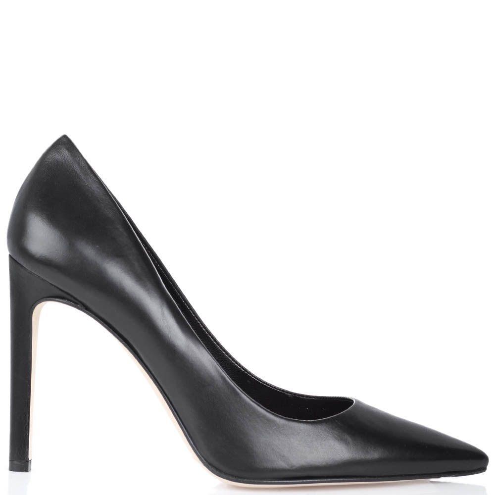Туфли-лодочки The Seller из натуральной кожи черного цвета