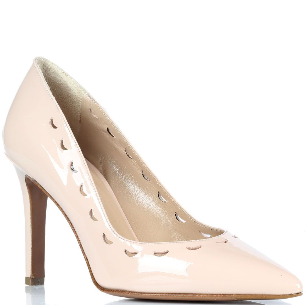 Божевые туфли-лодочки из лаковой кожи Fratelli Rossetti