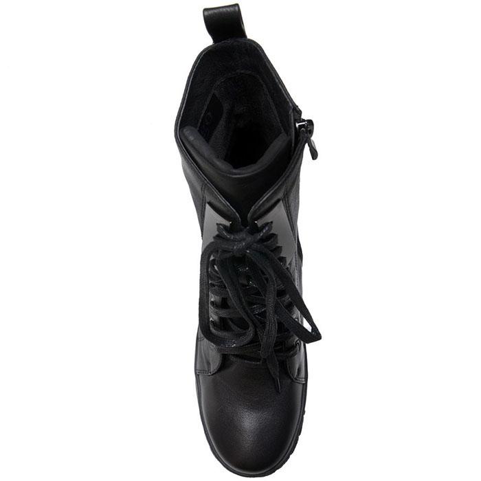 Высокие ботинки Prego из натуральной кожи черного цвета на толстой подошве