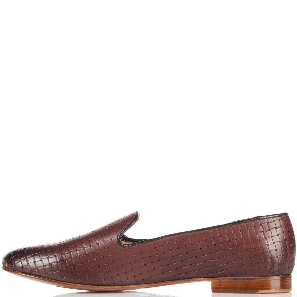Кожаные коричневые туфли-лоферы Doucal's
