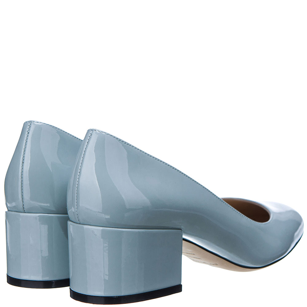 Лаковые туфли Sergio Rossi голубого цвета