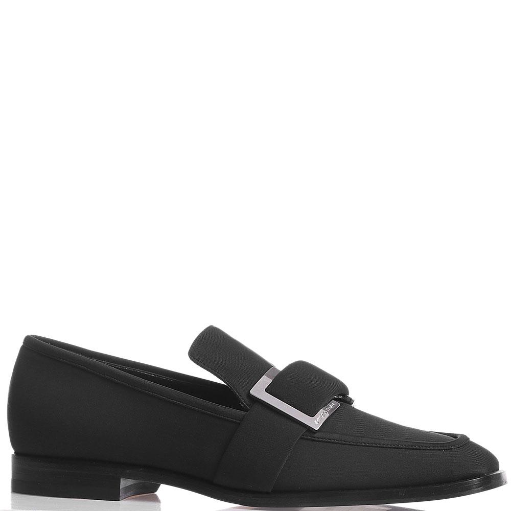 Туфли-лоферы Sergio Rossi черного цвета
