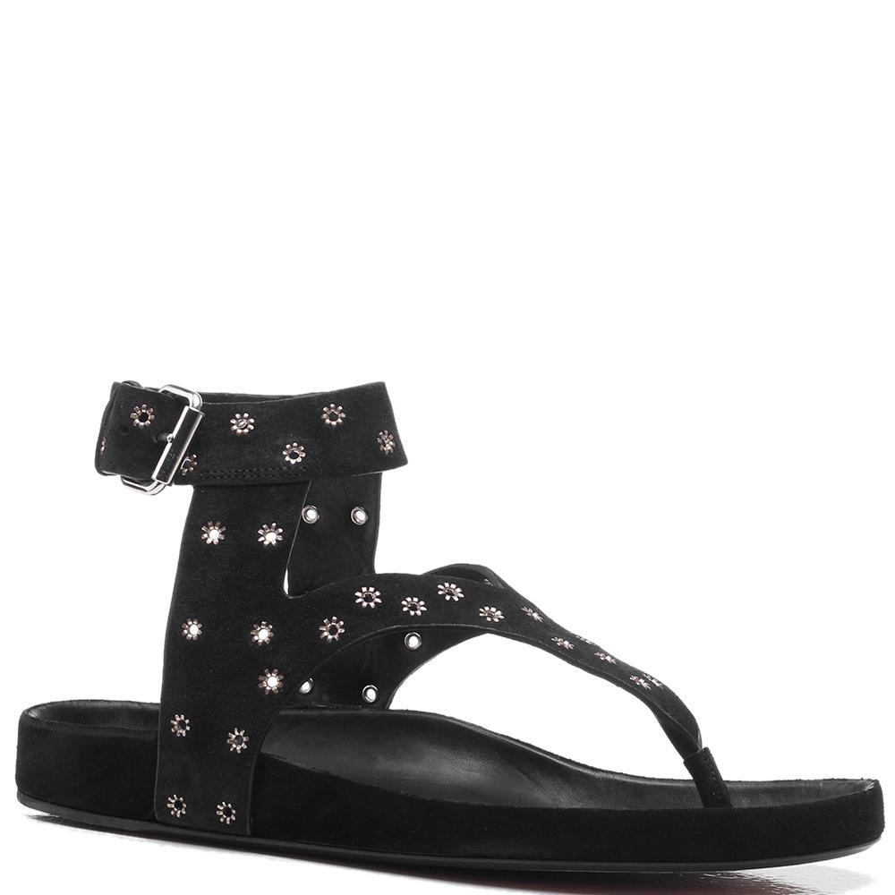 Черные сандалии Isabel Marant с декором-заклепками