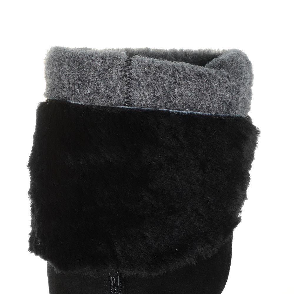 Зимние замшевые сапоги-ботфорты Tosca Blu Madrid на каблуке