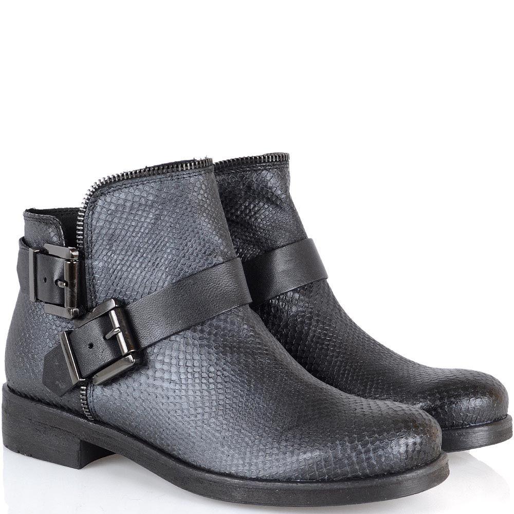 Женские ботинки Tosca Blu из натуральной кожи с имитацией кожи питона