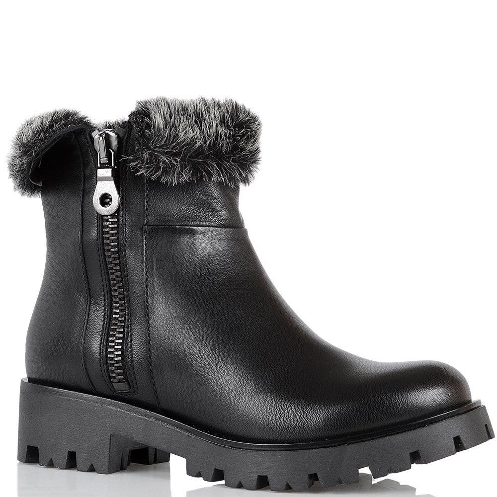 Ботинки зимние Tosca Blu утепленные на массивном каблуке