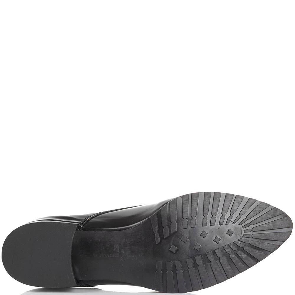 Туфли-оксфорды Tosca Blu из полированной кожи черного цвета