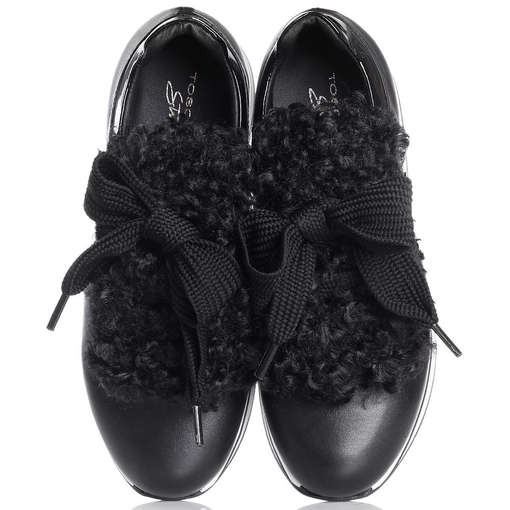 Кроссовки Tosca Blu черного цвета на платформе