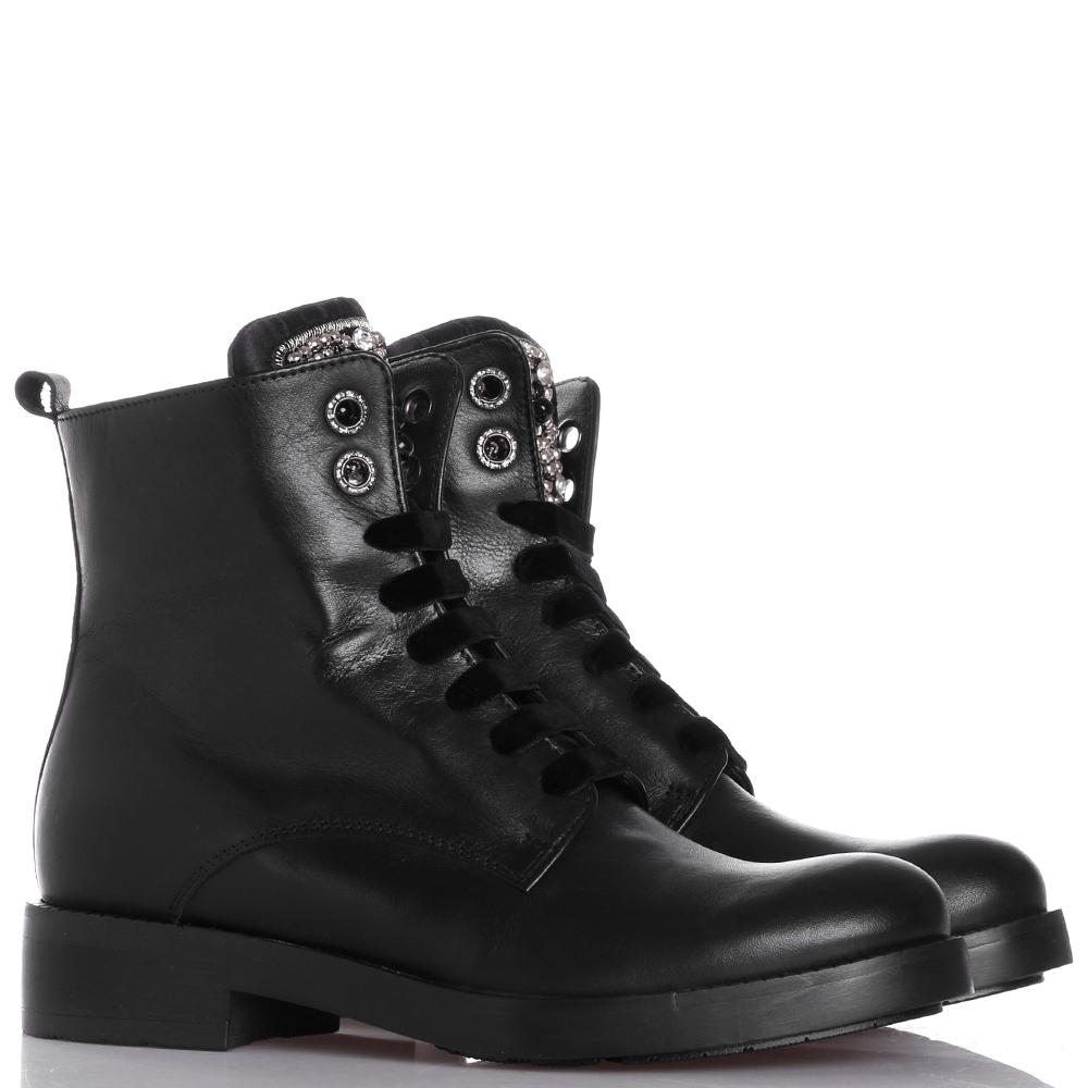 Ботинки Tosca Blu с бархатными шнурками