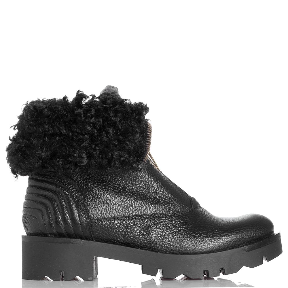 Ботинки Tosca Blu черного цвета на молнии