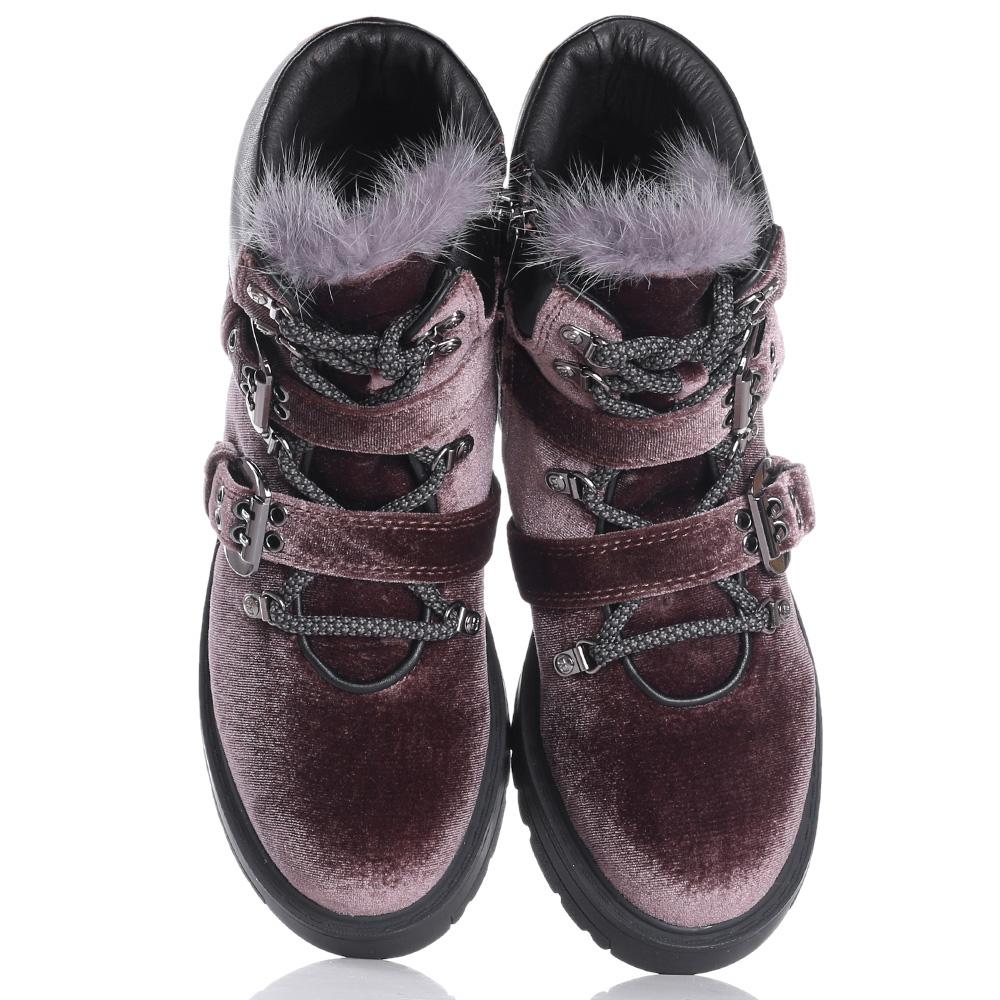 Коричневые ботинки Tosca Blu с декором-заклепками
