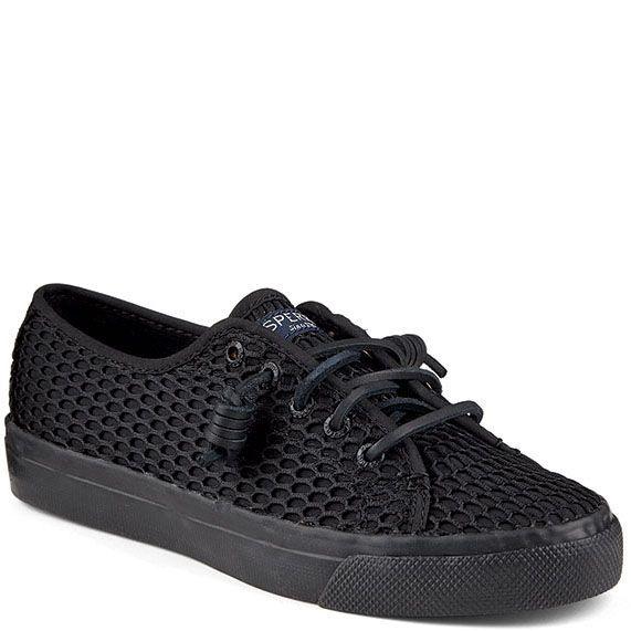 Кеды Sperry черного цвета на шнуровке