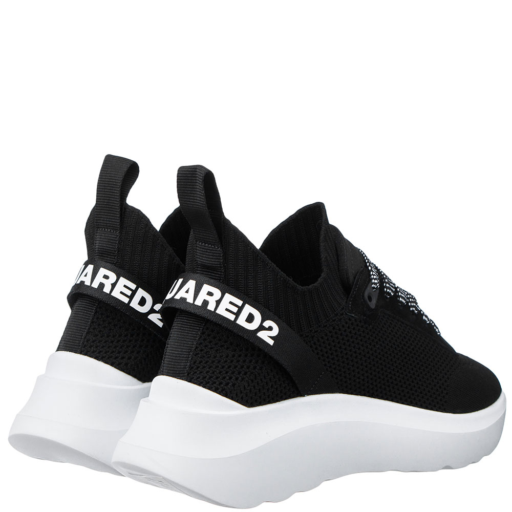 Черные кроссовки Dsquared2 на толстой подошве