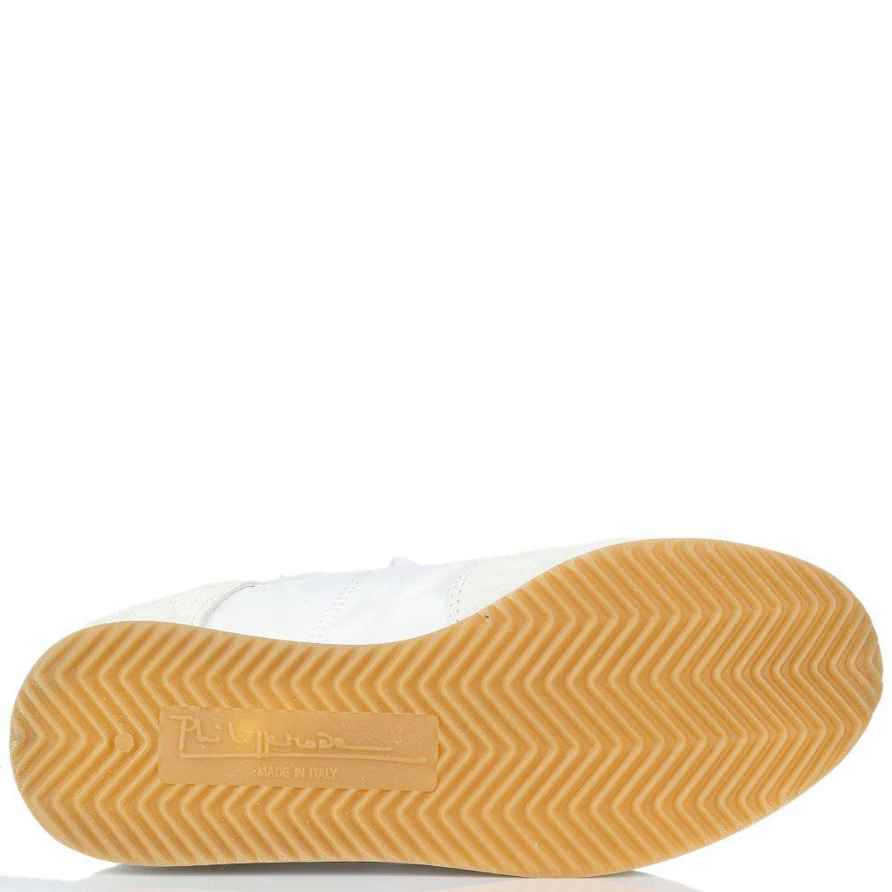Кроссовки из замши итекстиля с яркими вставками Philippe Model на толстой подошве