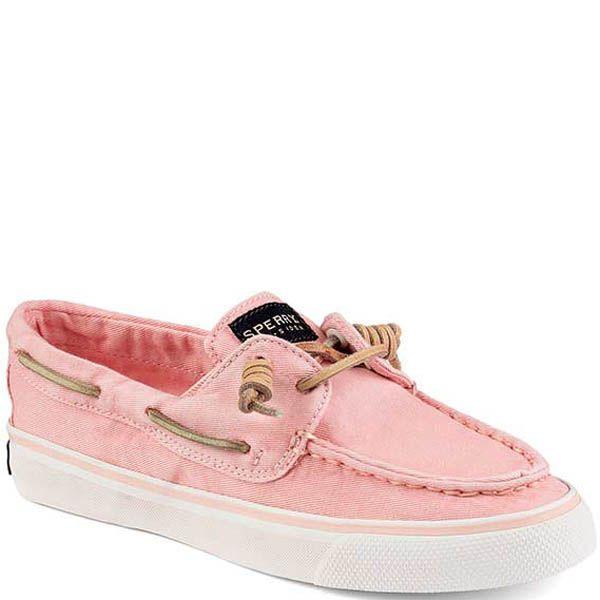 Топсайдеры Sperry женские розового цвета с бежевой шнуровкой