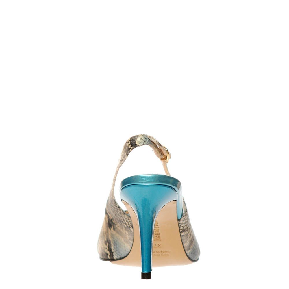 Босоножки Marino Fabiani из натуральной кожи бежево-голубые