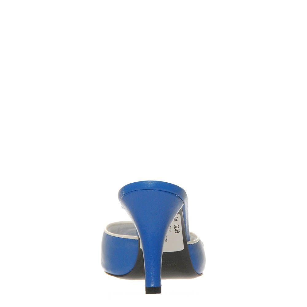 Мюли Marino Fabiani из кожи синего цвета