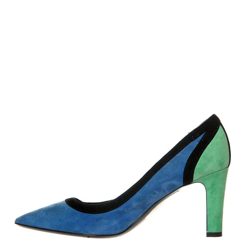 Туфли Marino Fabiani замшевые сине-зеленые