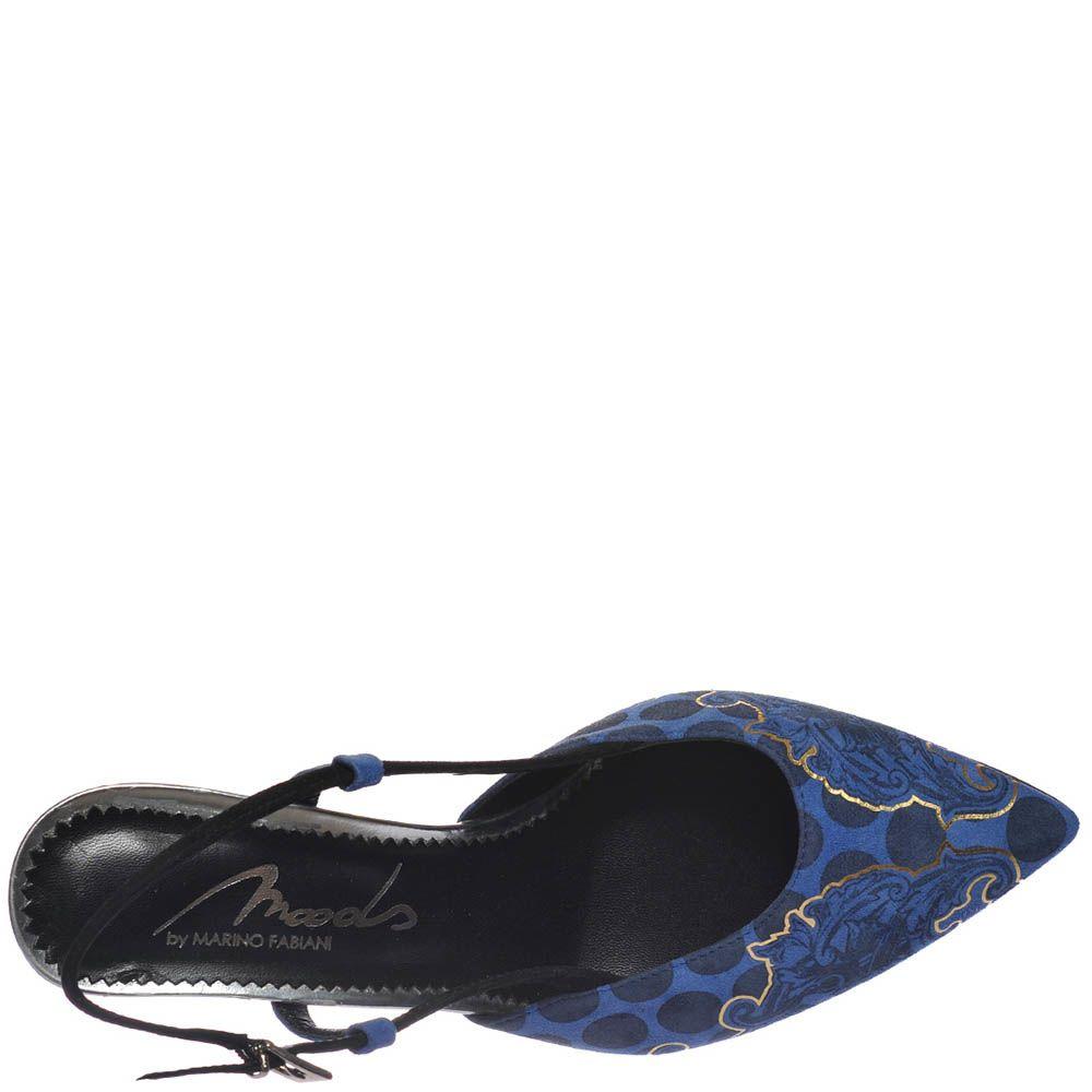 Босоножки Marino Fabiani синего цвета с закрытым носочком