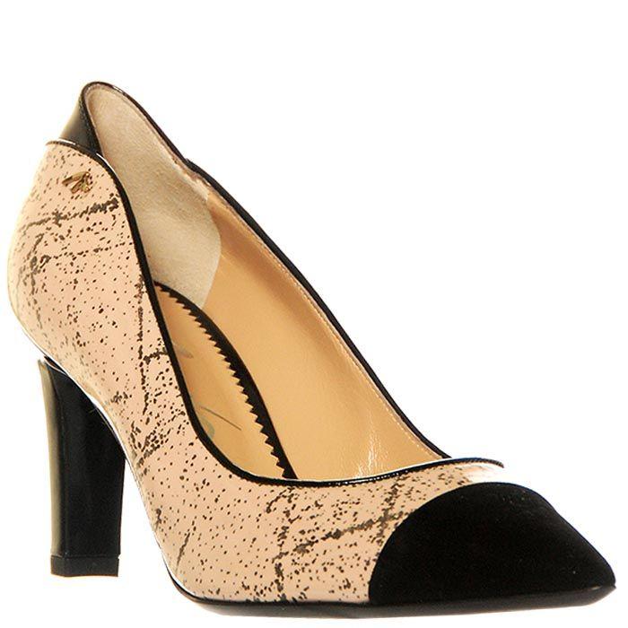 Туфли Marino Fabiani лаковые с замшевым черным носком