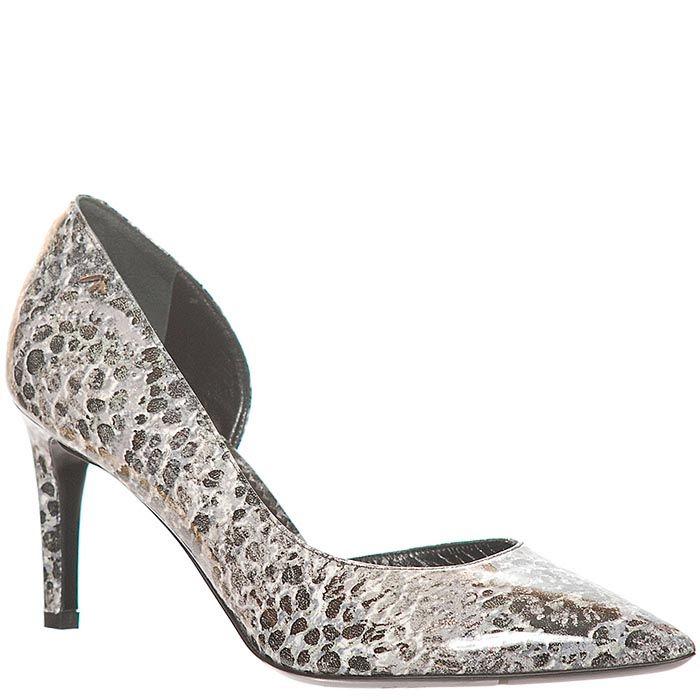 Туфли кожаные Marino Fabiani серого цвета