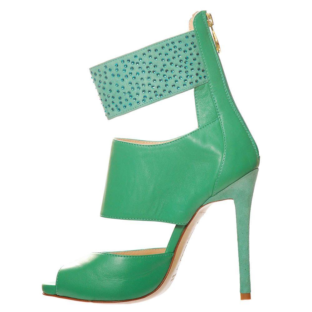 Босоножки Marino Fabiani из натуральной кожи зеленого цвета
