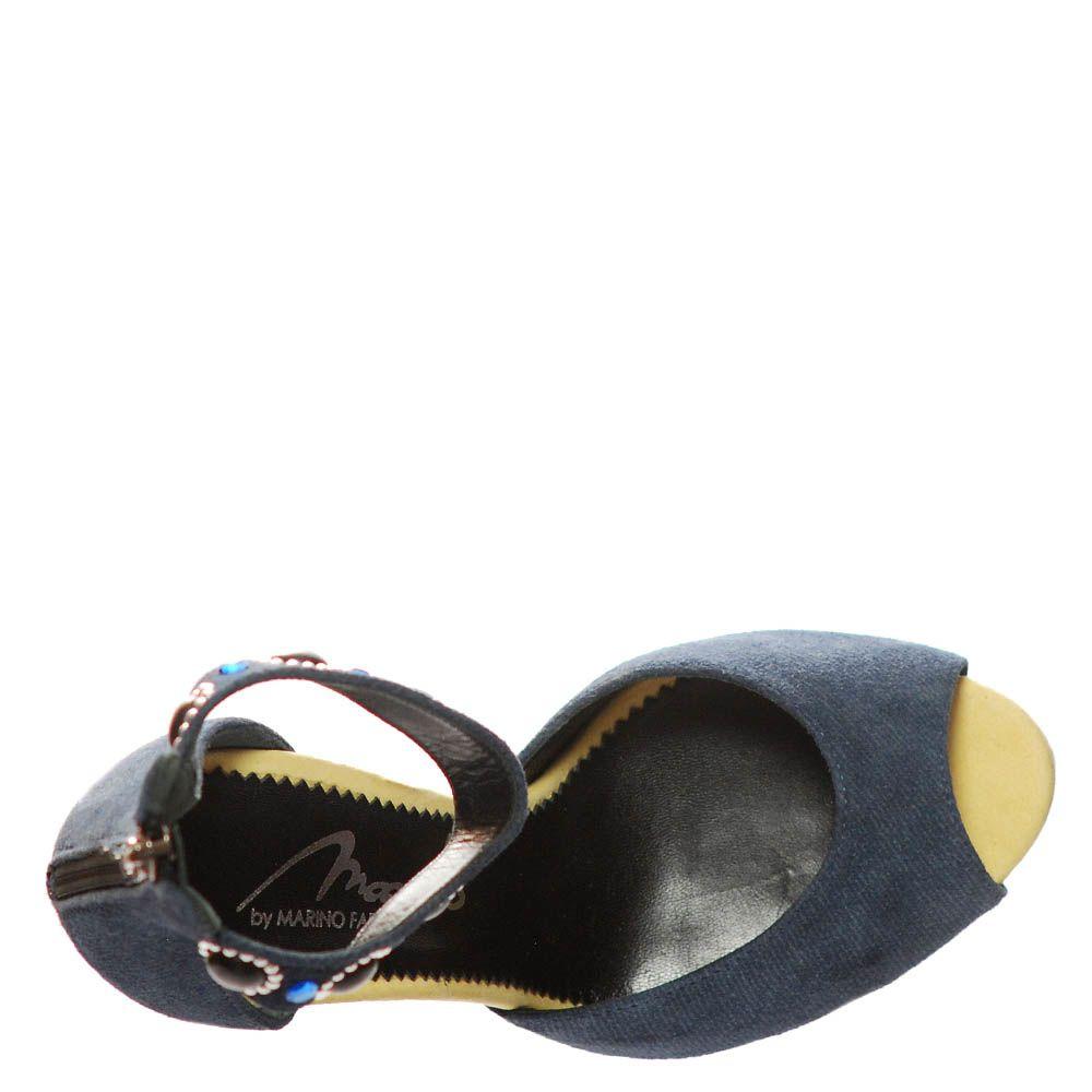 Замшевые босоножки Marino Fabiani синего цвета