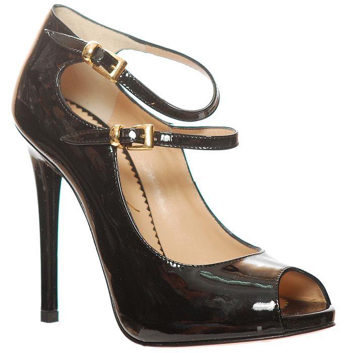 Туфли Marino Fabiani лаковые черного цвета