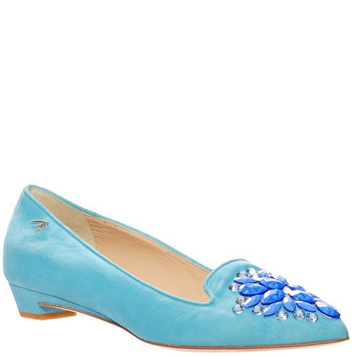 Туфли Marino Fabiani из замши голубого цвета