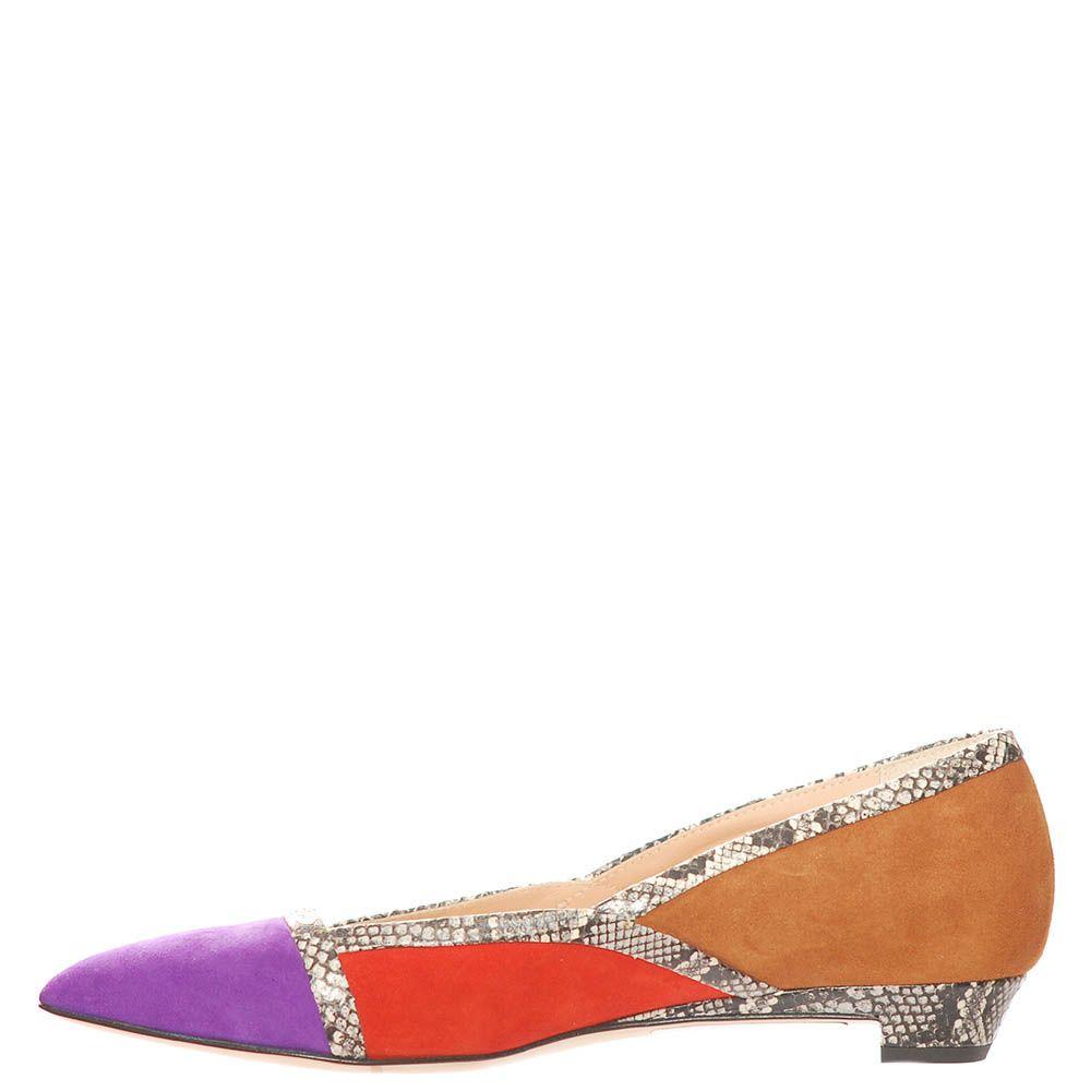 Замшевые туфли Marino Fabiani с низким каблуком