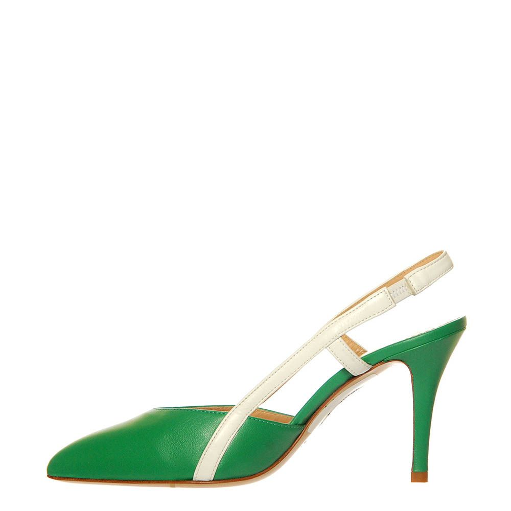 Босоножки Marino Fabiani из натуральной кожи зеленого цвета на шпильке