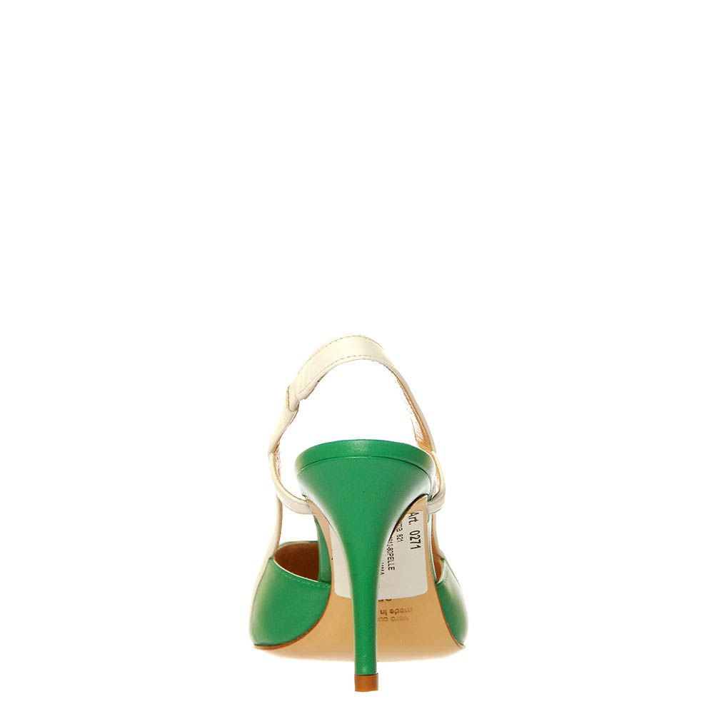 Босоножки Marino Fabiani из кожи зеленого цвета на шпильке