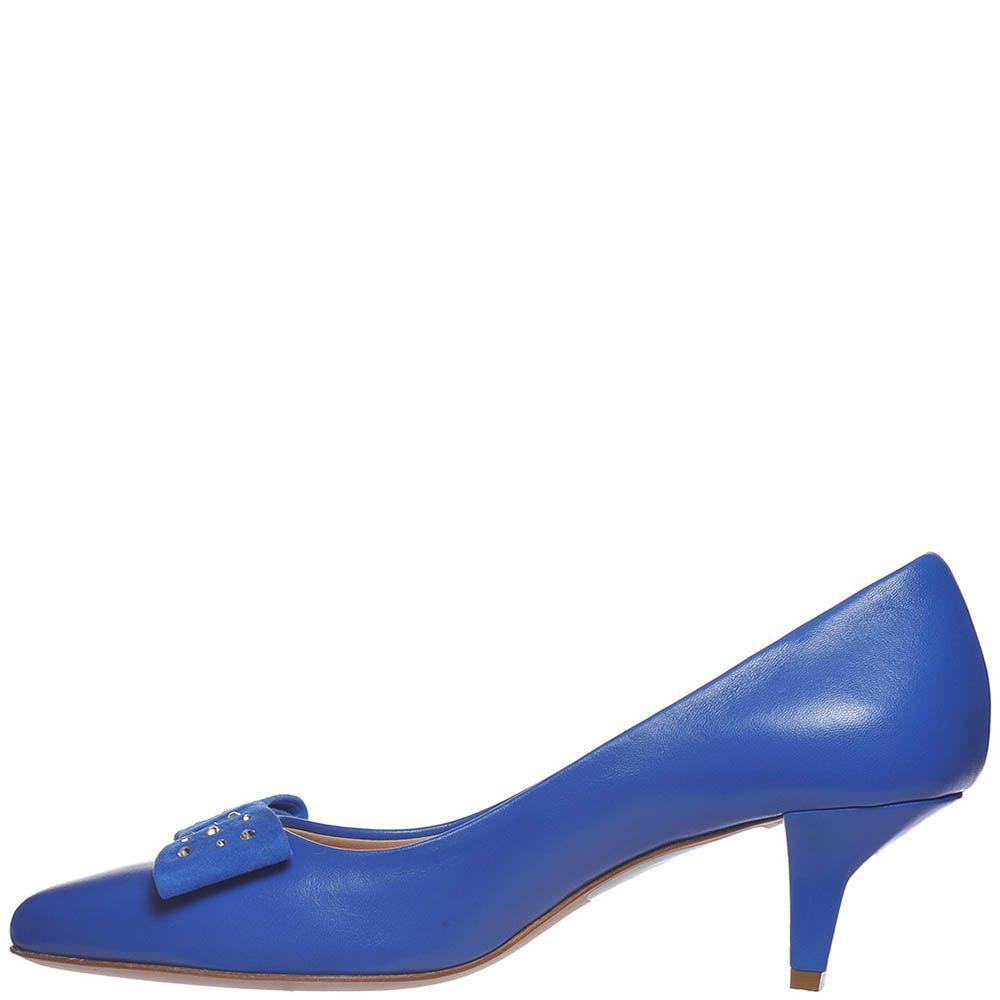 Туфли Marino Fabiani насыщенно-синего цвета на низком каблуке