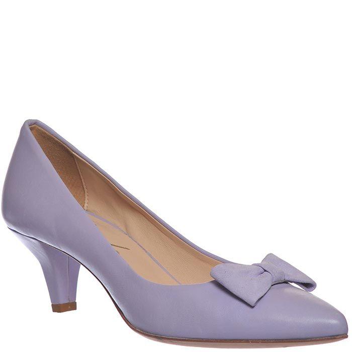 Туфли Marino Fabiani сиреневого цвета на низком каблуке