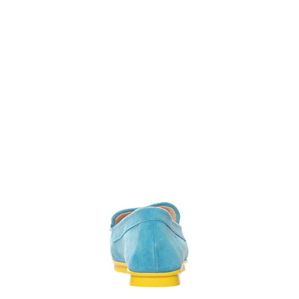 Лоферы Marino Fabiani замшевые голубого цвета