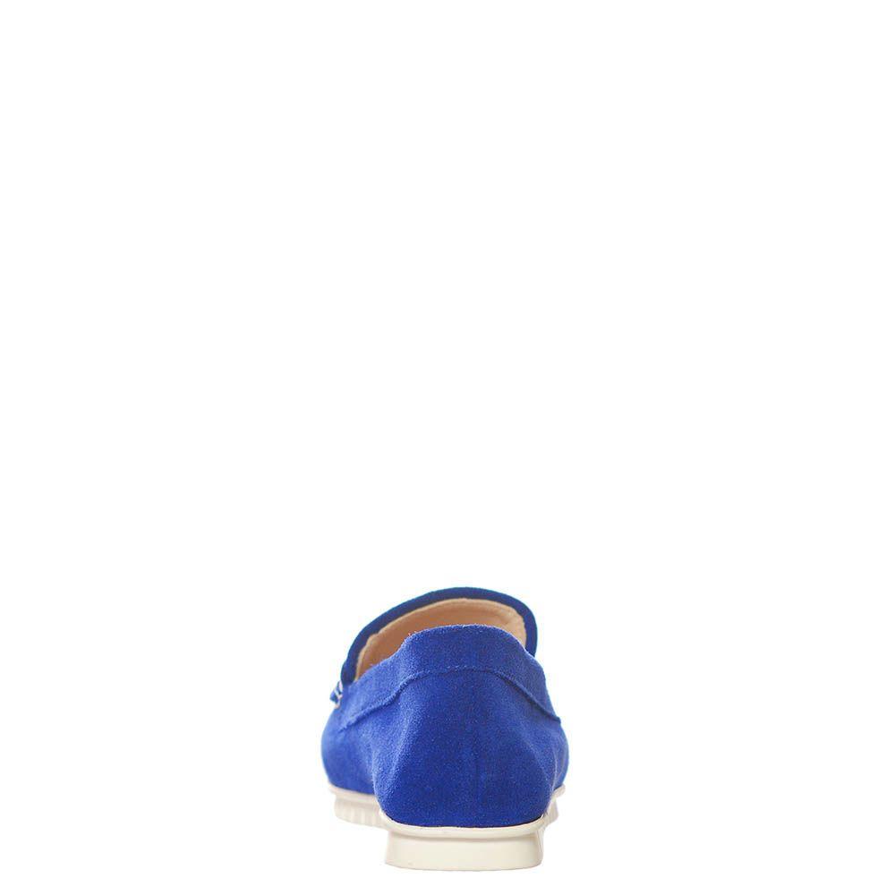 Замшевые лоферы Marino Fabiani синего цвета