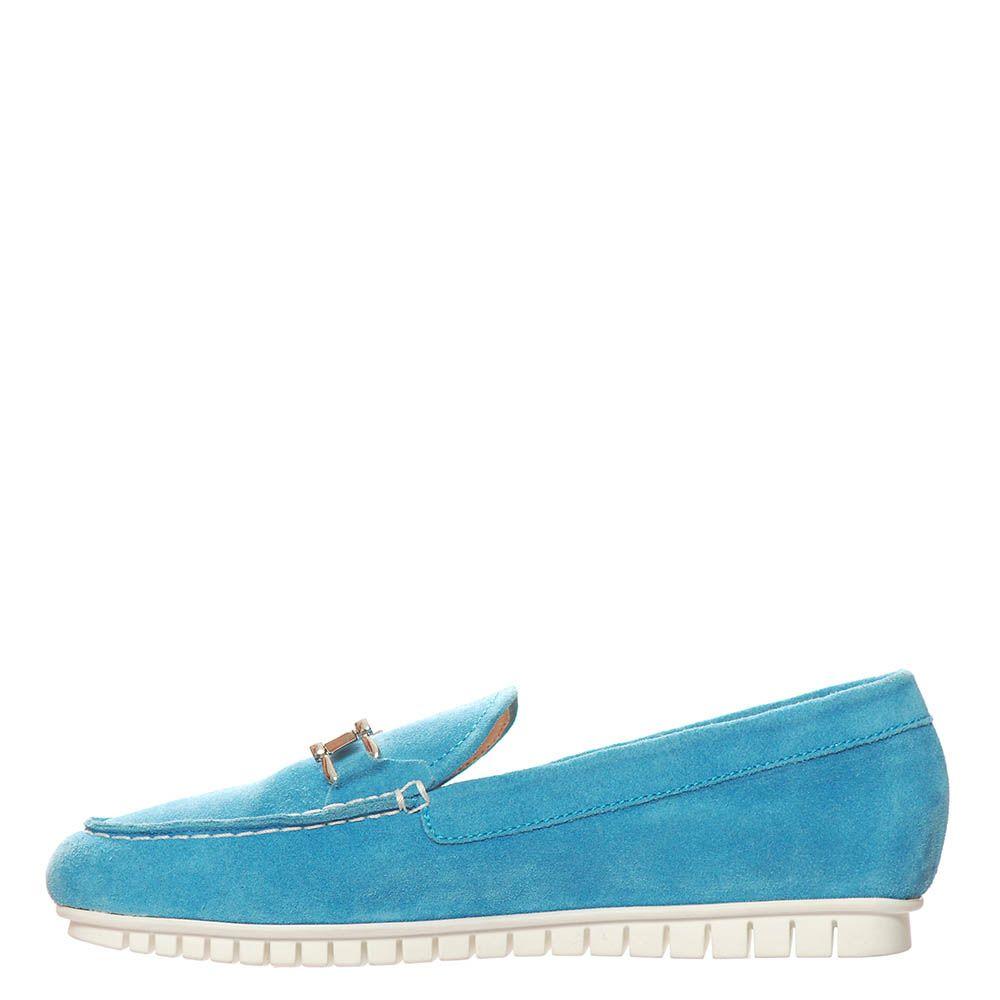 Замшевые лоферы Marino Fabiani голубого цвета